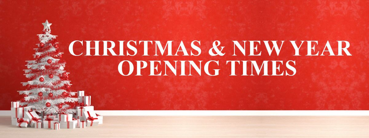Christmas Opening Times Banner
